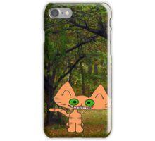 Cat Enjoying The Fall iPhone Case/Skin
