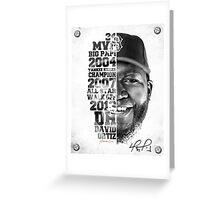 The Legend of Big Papi Greeting Card