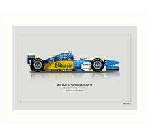 Michael Schumacher - Benetton B195 Art Print