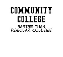 community college black Photographic Print