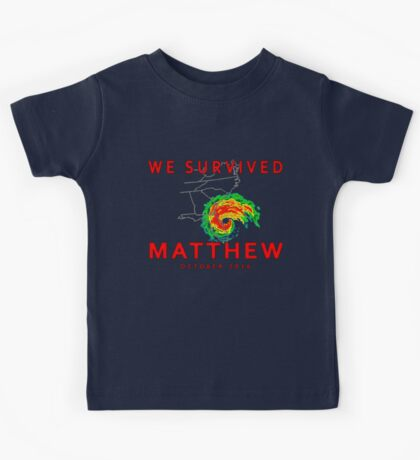 We Survived Hurricane Matthew Kids Tee