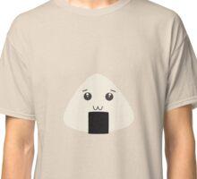 kawaii onigiri rice face Classic T-Shirt