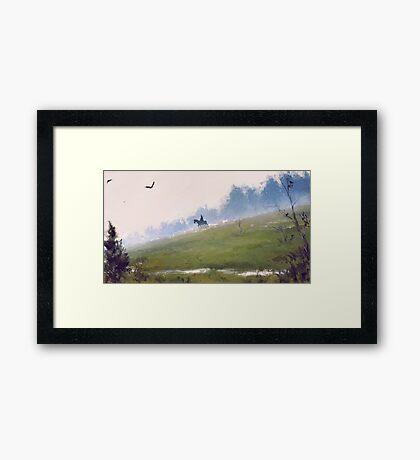 Rider Framed Print