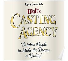 Walt's Casting Agency Poster