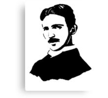 Nikola Tesla Stencil Canvas Print