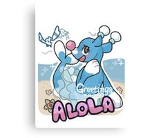 Greetings from Alola (ft. Brionne) - Pokémon Sun and Moon Canvas Print