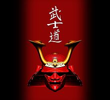 Red Kabuto (Samurai helmet) phone cases by Steve Crompton