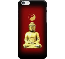 Buddha and Yin Yang red phone cases iPhone Case/Skin