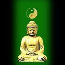 Buddha and Yin Yang green phone cases by Steve Crompton