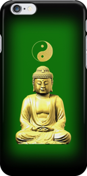 Buddha and Yin Yang green phone cases by Steve Crompton