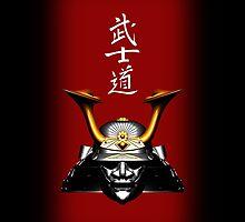 Black Kabuto (Samurai helmet) phone cases by Steve Crompton