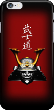Black Kabuto (Samurai helmet) iPhone / iPod case by Steve Crompton