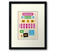 Het leven is geen infografiekske Framed Print