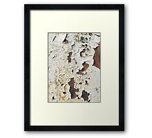 Cracked Rusted Paint on a Rusty Metal Wall Framed Print