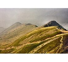 On top of the world - Snowdon Photographic Print