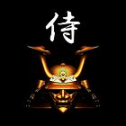 Gold Kabuto (Samurai helmet) phone cases by Steve Crompton