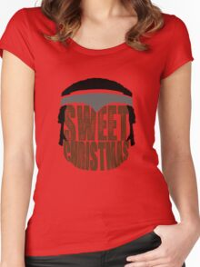 Sweet Christmas Women's Fitted Scoop T-Shirt