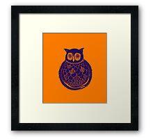 Barn owl - purple and golden Framed Print