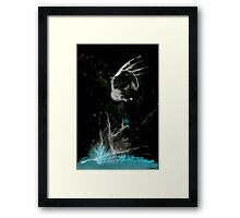 0118 - Brush and Ink - Wing Separation Framed Print
