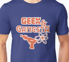 Geek & Gangsta - Nerdy Retro Science Fiction Humor Unisex T-Shirt
