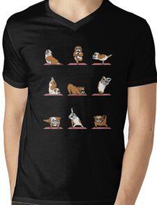 English Bulldog Yoga T-shirt Mens V-Neck T-Shirt