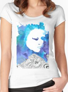 Dreaming Blue  Women's Fitted Scoop T-Shirt