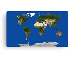 Low Poly World Map Canvas Print