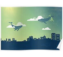 Sky Whales Poster