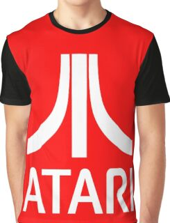 Atari White+Red Graphic T-Shirt