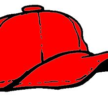 Red Baseball Cap by kwg2200