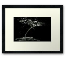 0115 - Brush and Ink - Collection Point Framed Print
