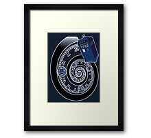 The Twelfth Doctor - time spiral Framed Print