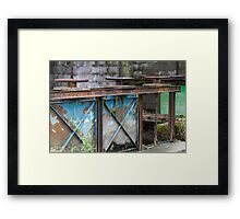closed on the river Framed Print
