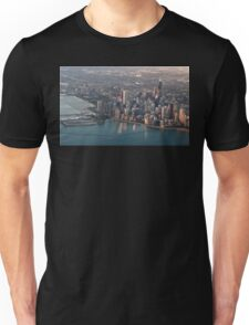Sunrise over Chicagoland. Unisex T-Shirt
