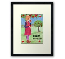 COMFORT ME WITH APPLES Framed Print