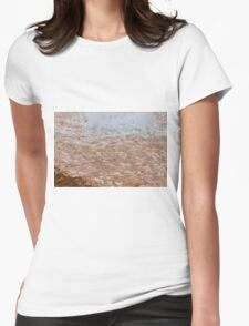 fountain gushing Womens Fitted T-Shirt