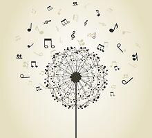 Music a dandelion by Aleksander1