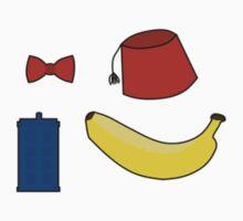 Doctor Who Stickers: Bowtie, Fez, Tardis, Banana by sonicbiro