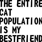 The Entire Cat Population Is My Bestfriend by artvia