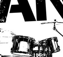 I'm With The Band - Drum Set (Black Lettering) Sticker