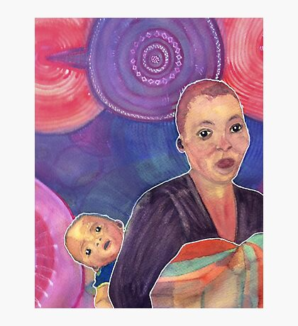 Sotho Mother and Child Photographic Print