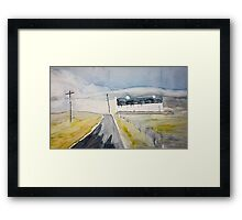 bend of the road Framed Print