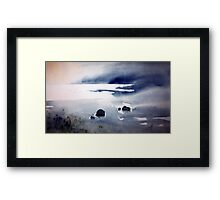 if rocks could tell a tale Framed Print