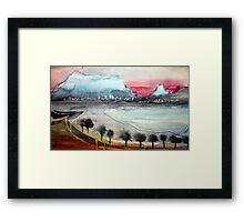 Cape Town at dawn Framed Print