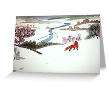 Mr. Fox went to catch mice Greeting Card