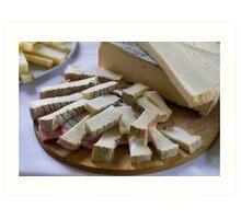 cheese appetizer Art Print