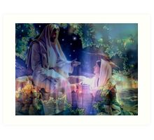 Jesus and Mary Magdalene Art Print