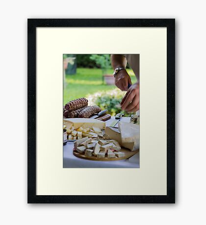 cheese appetizer Framed Print