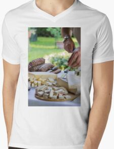 cheese appetizer Mens V-Neck T-Shirt