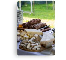 cheese appetizer Canvas Print